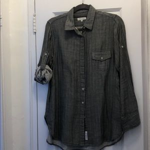 Rag and Bone versatile button down in grey